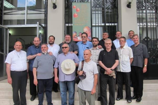 Mitbrüder der Regio Nuevo Belen beim Besuch im Stadtzentrum von Guyaquil (Ecuador), Foto privat 2019