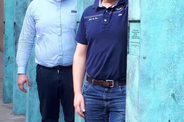 zwei unserer jungen Mitbrüder aus Deutschland, Foto Löhr 2018